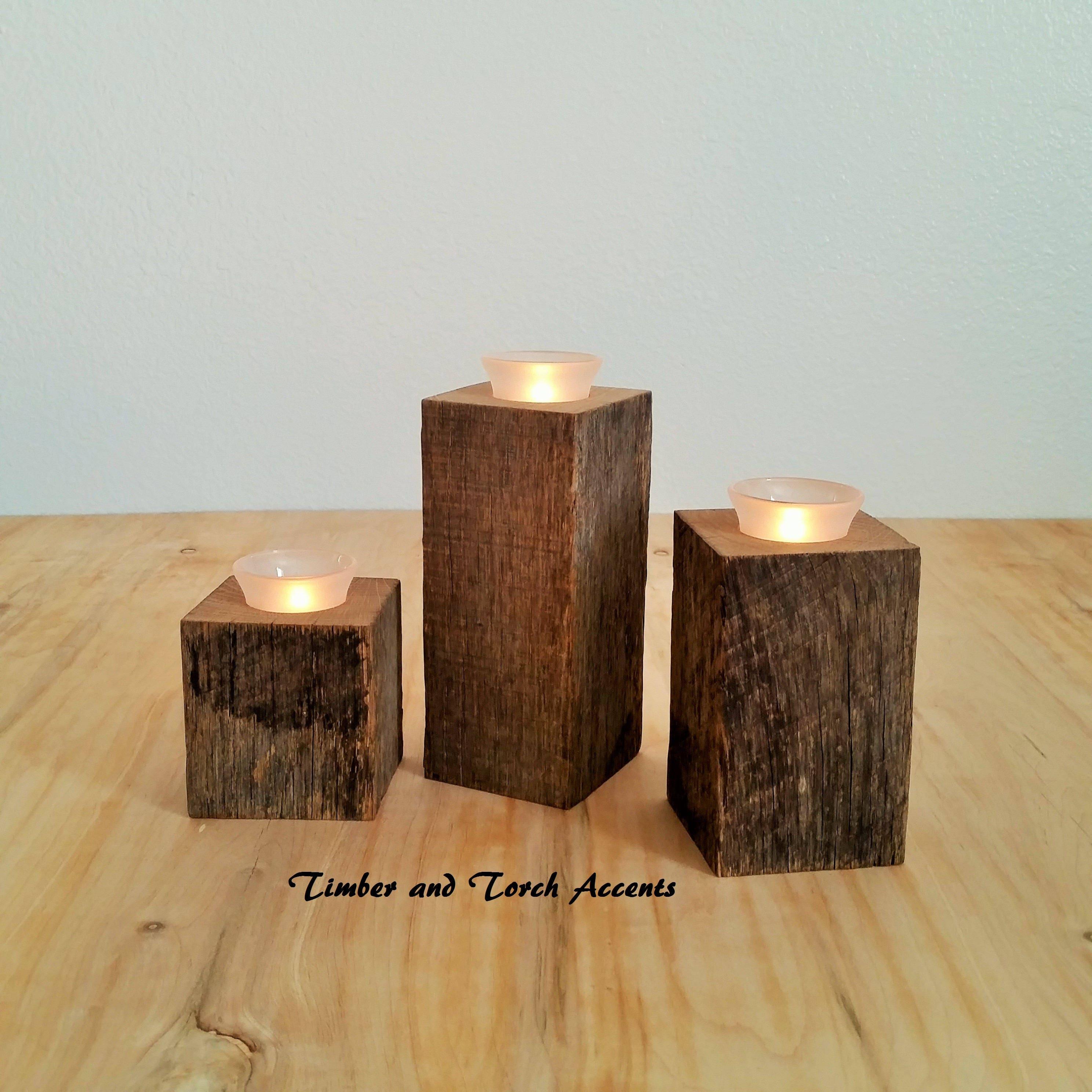 Swedish Wooden Tea Light Holder Holders Set Holder Candle Wedding Tealight Wood
