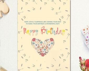 Birthday Cards Happy Card Best Friend Printable Mom Sister