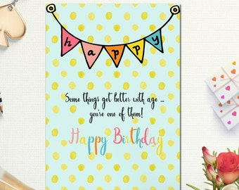 Happy Birthday Cards Card Best Friend Printable Mom Sister