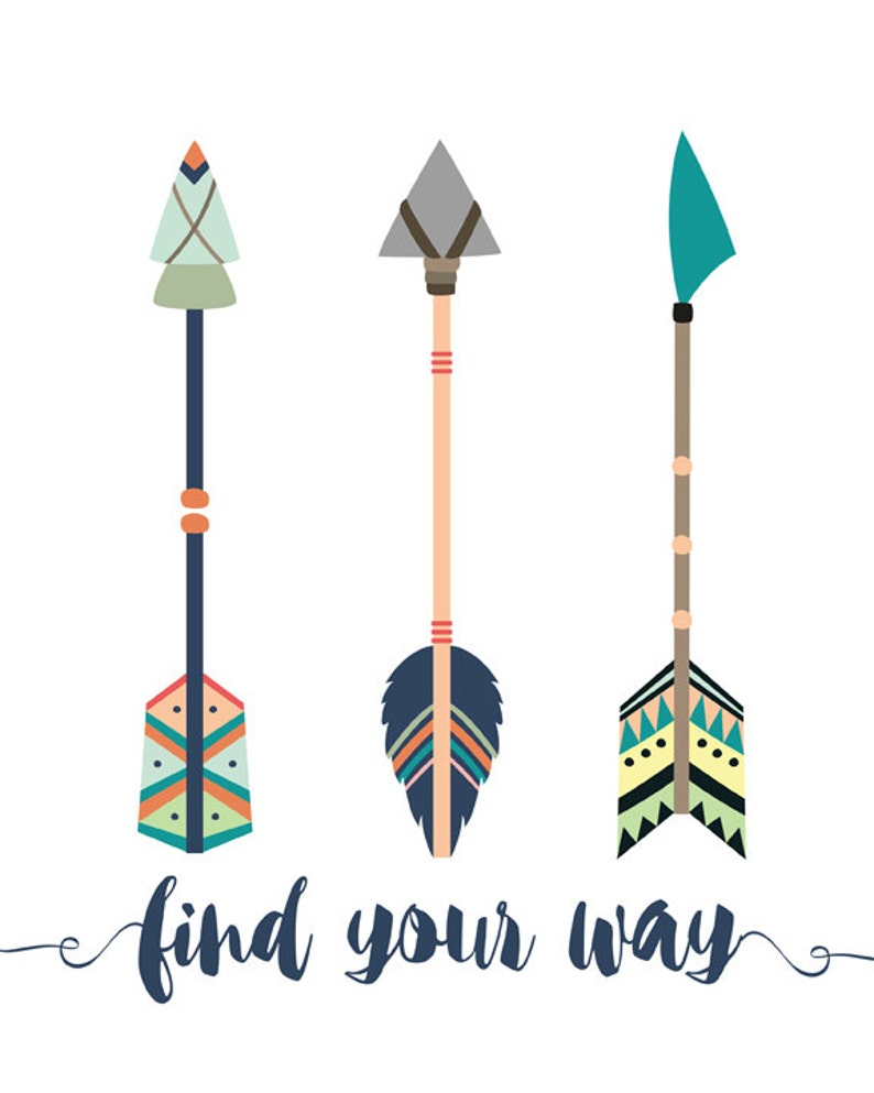 image about Printable Arrows named Discover Your Route Quotation, Vibrant Arrows Printable, Tribal Arrows , tribal Wall Artwork Printable,Arrow Printable, Boho Arrow Printable, Boys Area