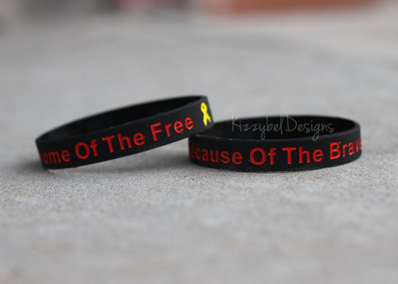 Red Friday Deployment Bracelet Red Friday Support Army Navy image 0