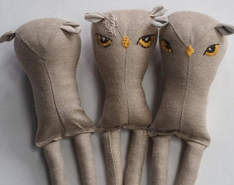 Group 2 - linen owl doll seconds