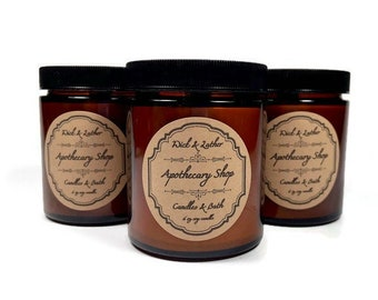 Apothecary Shop Wood Wick Soy Candle