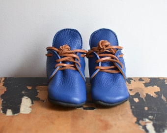 Lace up boots- shown in blue