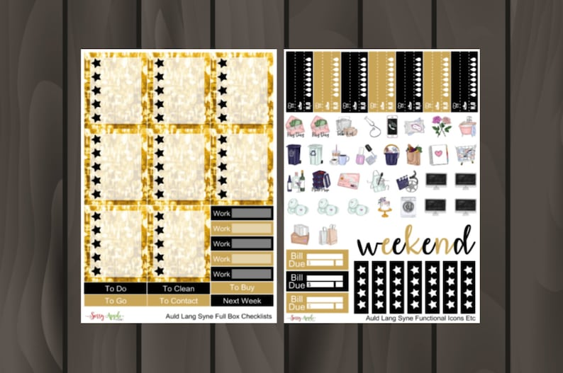 2021 New Year Sticker Kit New Year's Eve Sticker Kit | Etsy