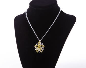 Silver and Yellow Celtic Star