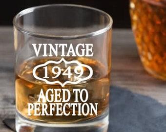 70th Birthday Gift Men Or Women Whiskey Glass Party Present Mug