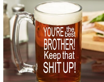 Gift For Brother Beer Mug Birthday In Law From Sister