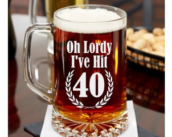 40th Birthday Gift Etched Beer Mug Or Pint Glass For Man Woman Turning 40 Years Old 1979 Him Her