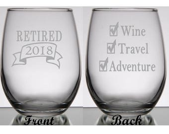 Retirement Gifts for Women, Retirement Gift for Man, Retirement Wine Glass, Boss Retirement Gift, Retirement Gift Idea, Retirement Party