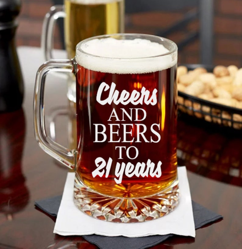 21st Birthday Gift Cheers And Beers To 21 Years Female Or