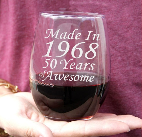 50th Birthday Wine Glass Gift Beer