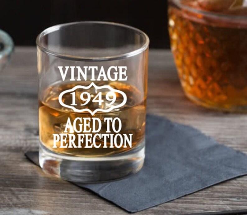 70th Birthday Gift Men Or Women Whiskey Glass