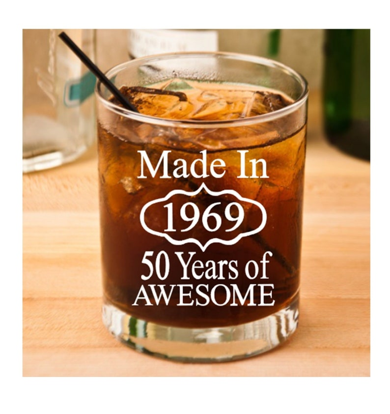 50th Birthday Gift For Men Or Women Drinking Glass
