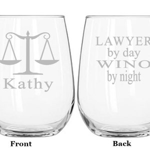 lawyer christmas gift lawyer wine glass law school graduation law student attorney gift
