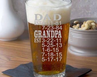Grandpa Gift, Grandpa Birthday Gift, Father's Day Gift, Gift for Dad, Gift for Grandpa, Dad EST, Grandpa EST, PAPA Gift, Abuelo Regalo