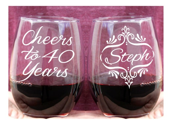 40th Birthday Gift For Woman Cheers To 40 Years 2 Sided