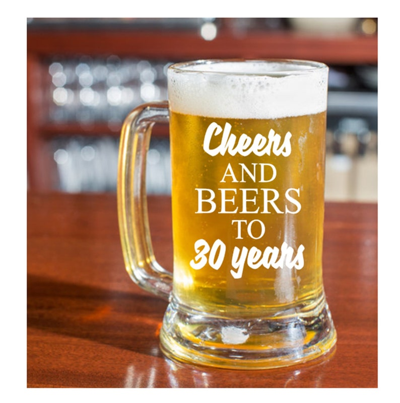 30th Birthday Gift For Him Or Her Cheers And Beers To 30