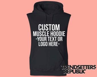 fdc1f8e6647db Sleeveless hoodie | Etsy