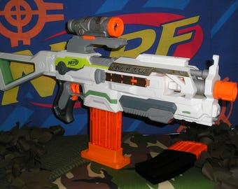 nerf alpha trooper modified orange mod works etsy
