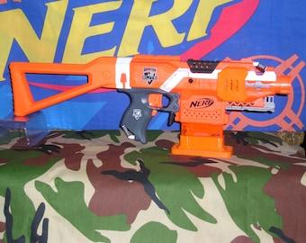 Ultimate Nerf Orange Stryfe Modified Tamiya motors, rewired, worker parts