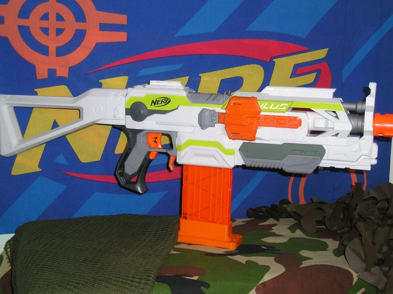 Nerf Modulus Modified (Basher Supersonic motors and rewired) & blasterparts