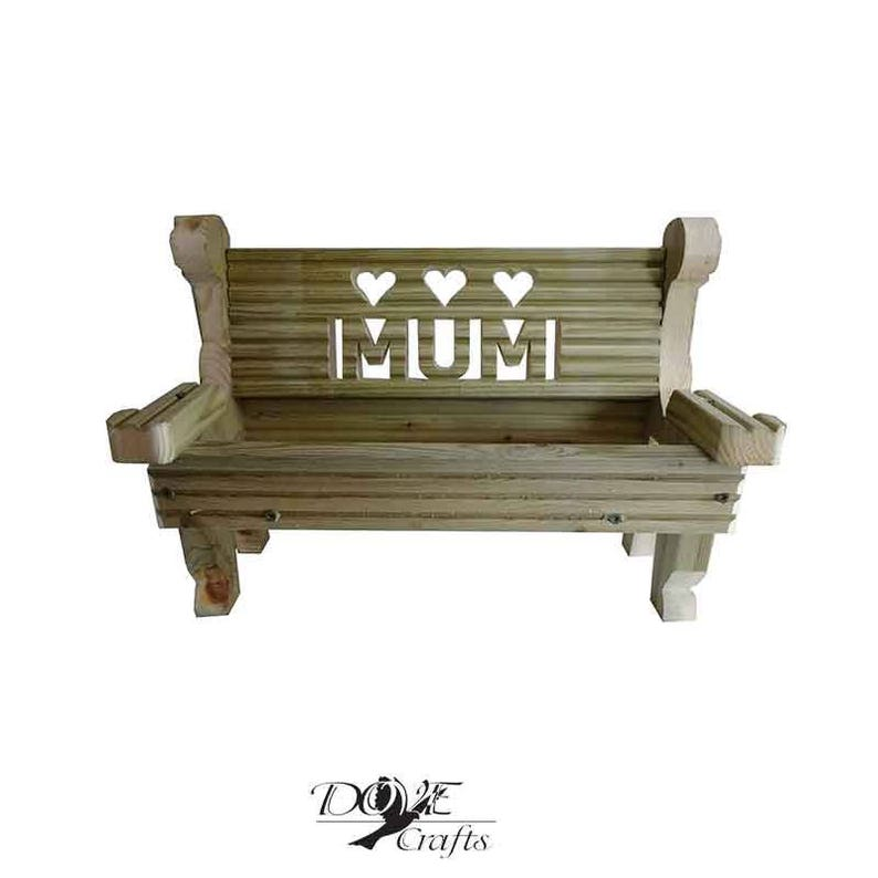 15 Off Mother S Day Bench Planter Any Name Mum Etsy