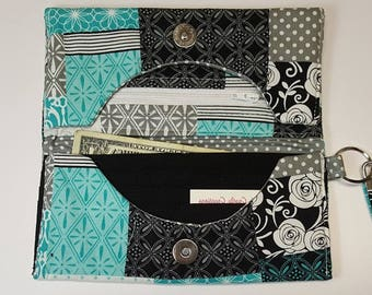Handmade Fabric Wallet, Machine washable, Lightweight even when packed full
