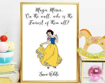 Disney Snow White Snow White Princess Print Snow White | Etsy