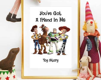 Toy Story Birthday Printable Disney Quotes Main Characters Nursery Decorations Instant Download Centerpiece