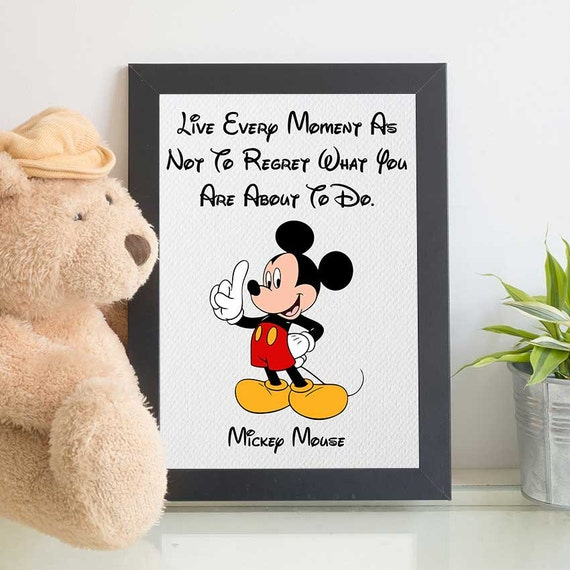 Mickey Mouse Party Print, Mickey Mouse Quote, Disney Quotes, Mickey Mouse  Decor, Disney Printables, Nursery Wall Art
