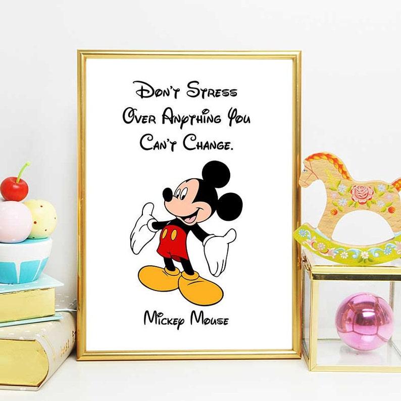Mickey Maus zitieren Disney Print Micky Maus Kinderzimmer | Etsy