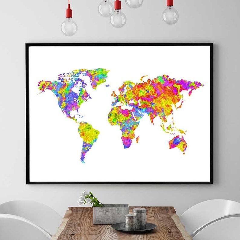 Costa Rica Karte Zum Ausdrucken.Weltkarte Zum Ausdrucken Stadtplan Karte Sofortigen Download Welt Weltkarte Aquarell Karte Drucken Welt Malen Kinderzimmer Dekor
