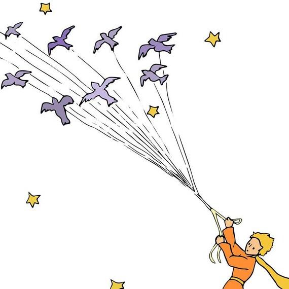 Le Petit Prince Imprimé Petit Prince étoiles Citation Le Petit Prince Wall Art Parti Du Petit Prince Le Petit Prince Citations