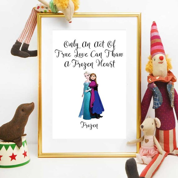 Awe Inspiring Frozen Birthday Print Princess Anna And Elsa Disney Quotes Etsy Personalised Birthday Cards Paralily Jamesorg