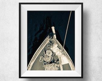Sail Boat Print, Sailing Gift, Coastal Decor, Sail Boat Art, Sailing Decor, Sail Boat Wall Art, Black And White Poster, Coastal Wall Art