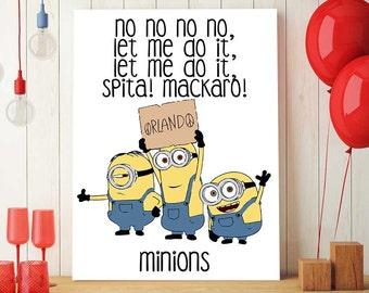 Minions Decorations, Orlando, Minions Backdrop, Minion Party, Minion Birthday, Minions Printable, Minion Download, Kevin, Bob And Stuart