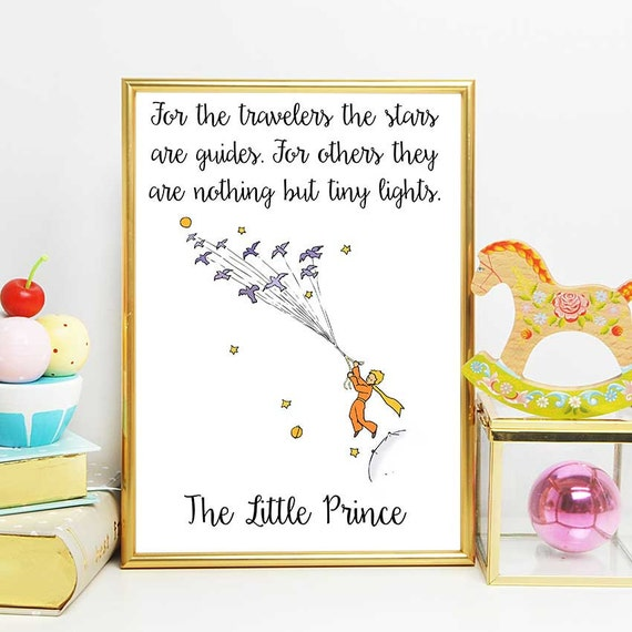 Quotes From The Little Prince | The Little Prince Print Little Prince Stars Quote The Little Etsy