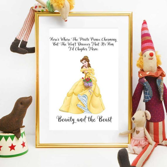 Beauty And The Beast Print Belle Quote Beauty And The Beast Etsy