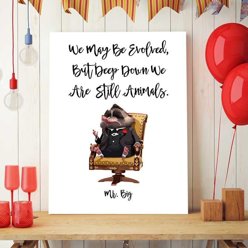Zootopia Art Disney Quotes Mr Big Zootopia Printable Etsy
