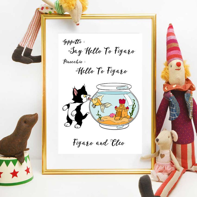Pinocchio Printables, Disney Quotes, Figaro And Cleo, Nursery Decor,  Instant Download, Pinocchio Decorations For Boys And Girls
