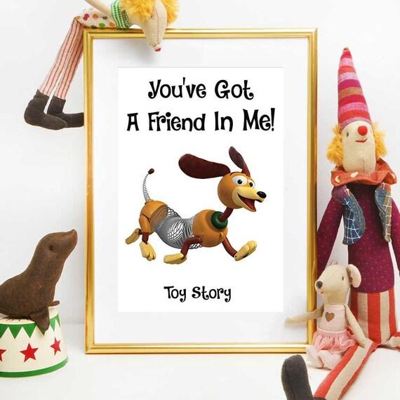 Toy Story Birthday Print Disney Quotes Toy Story Slinky Dog Etsy