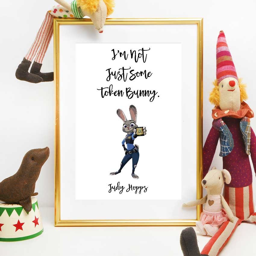 Zootopia Party Disney Quotes Judy Hopps Printable Quote Etsy