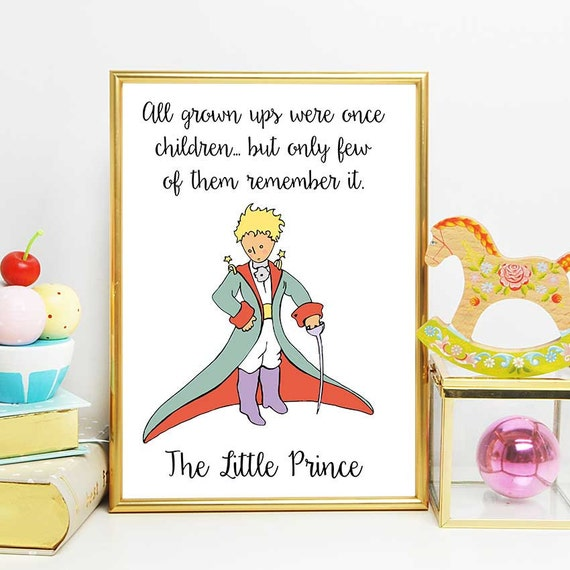 The Little Prince Quotes | The Little Prince Party The Little Prince Children Quote The Etsy