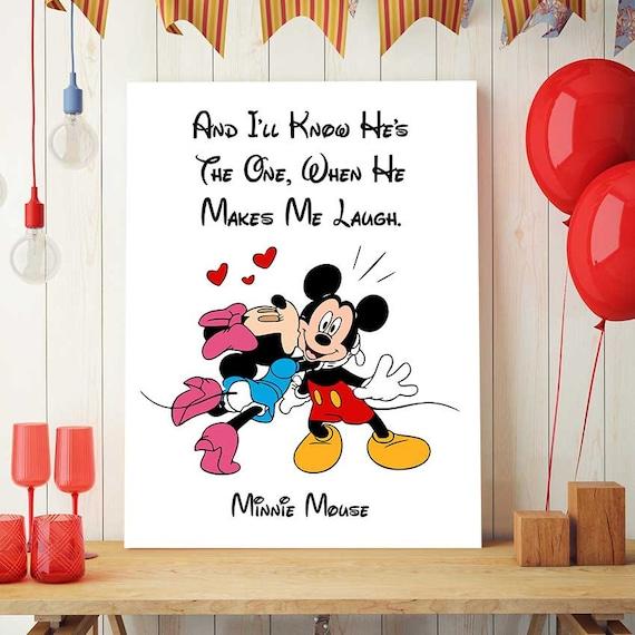 Minnie Mouse Urodziny Disney Cytaty Minnie Mouse Art Do Etsy