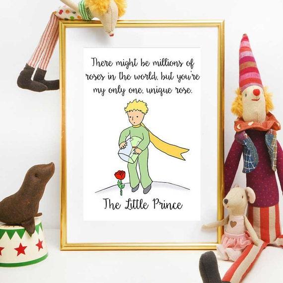 De Kleine Prins Citaten Kleine Prins Rose Citeren De Kleine Lettertjes Van De Prins De Kleine Prins Wall Art De Kleine Prins Partij