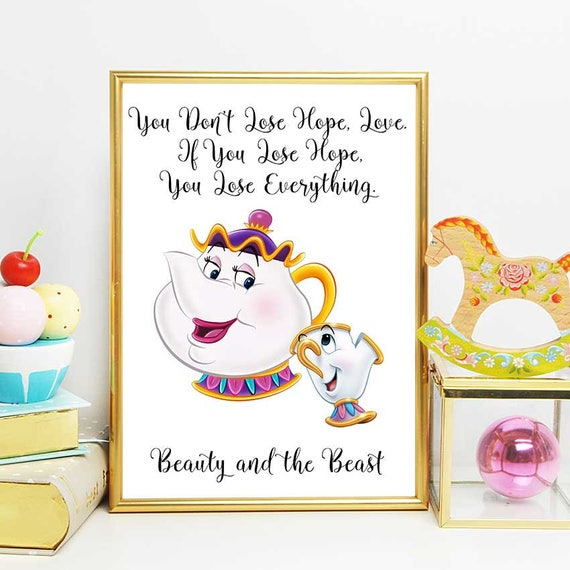 Beauty And The Beast Printable Mrs Potts Quote Beauty And Etsy