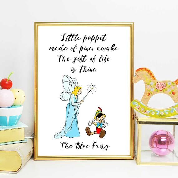 Imprimibles de Pinocho Disney citas azul citar impresión de | Etsy