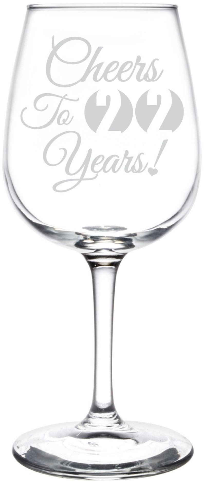 Libbey Wine Taster Glass Special Occasions /& Celebration Gift Inspired Anniversary 25th Graduation Cheers To Years Birthday 21st
