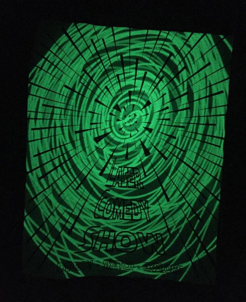 Star-warp themed Laser Reactive Shirt  Laser Comedy Show image 0